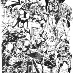 marvel comics artist page featuring hulk and nick fury by herb trimpe