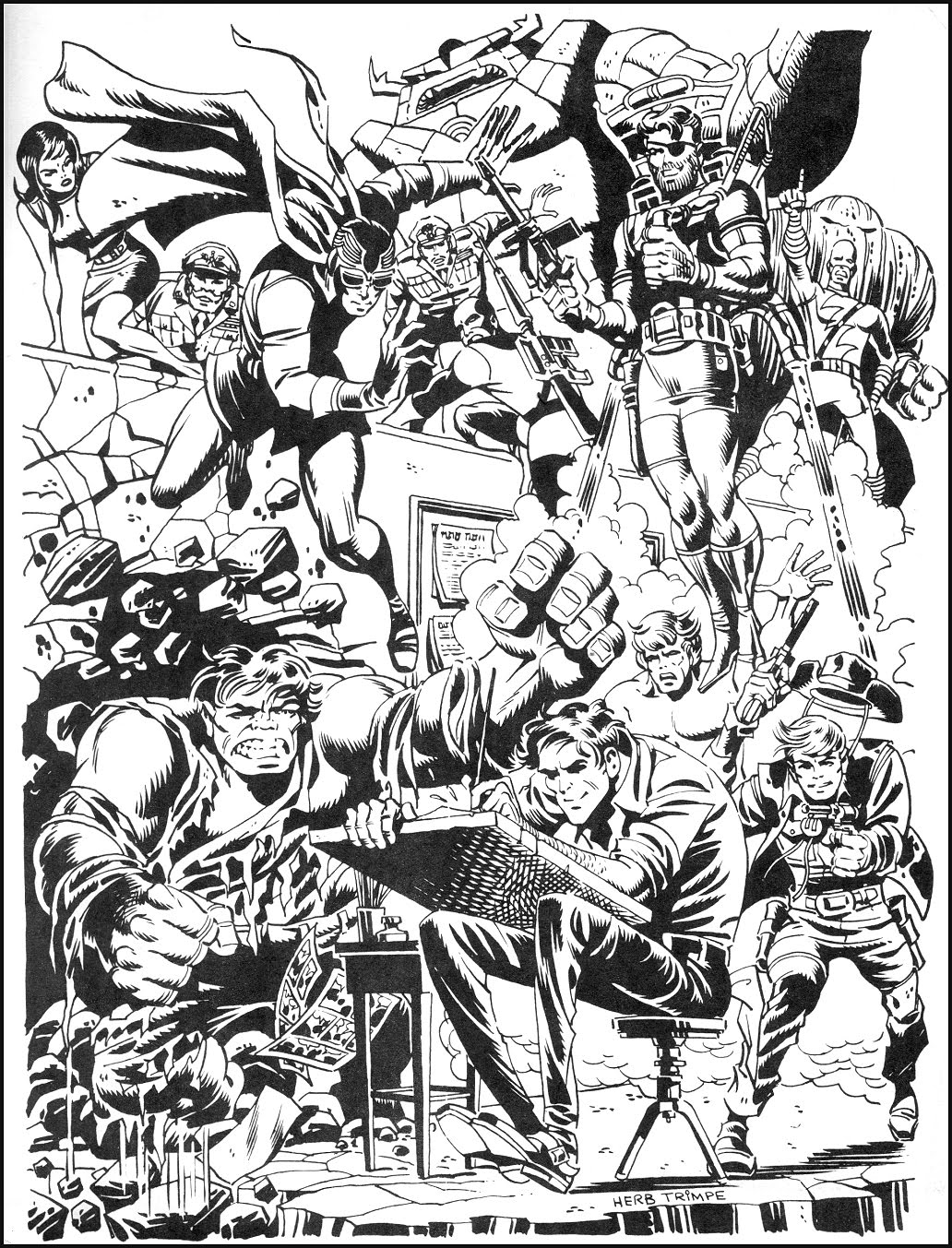 Marvel Artist Profile Portfolio ~ 1970