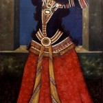 Painting of a dancing Qajar Princess