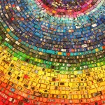Toy Car art installation - Rainbow