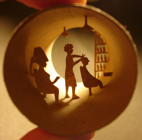 Salon paper-cut by Anastassia Elias