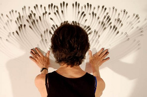 Judith Braun at work by Cesar Delgado Wixan