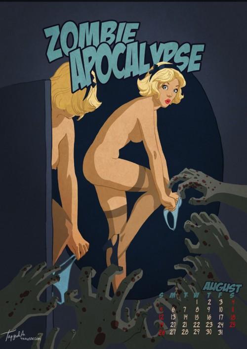 Zombie Apocalypse - pinup calendar