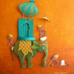 Indian elephant art - paper sculpture
