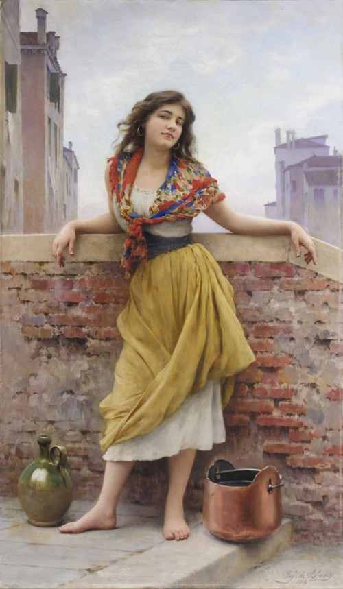 Water Carrier by Eugene de Blaas