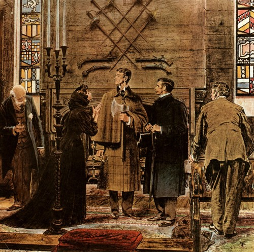 Sherlock Holmes by Robert Fawcett