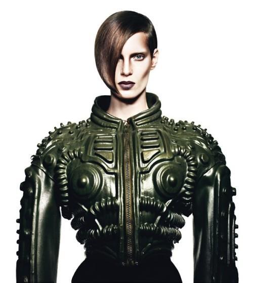 Iris Strubegger by Markus Pritzi - futuristic fashion