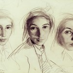 Pencil self-portraits – Zinaida Evgenievna Serebriakova