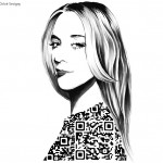 QR Code Fashion Illustrations by Yiying Lu