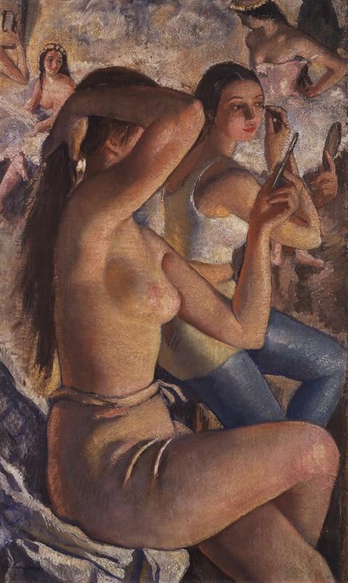 Ballet washroom - Zinaida Serebriakova