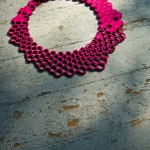 laser cut test pattern wool felt necklace