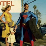 Carolyn Murphy, and David Gandy as Superman