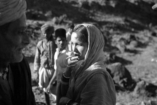 Actress Devika Rani on the sets of Izzat by Josef Wirsching