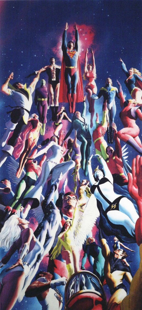 legion of superheroes by alex ross