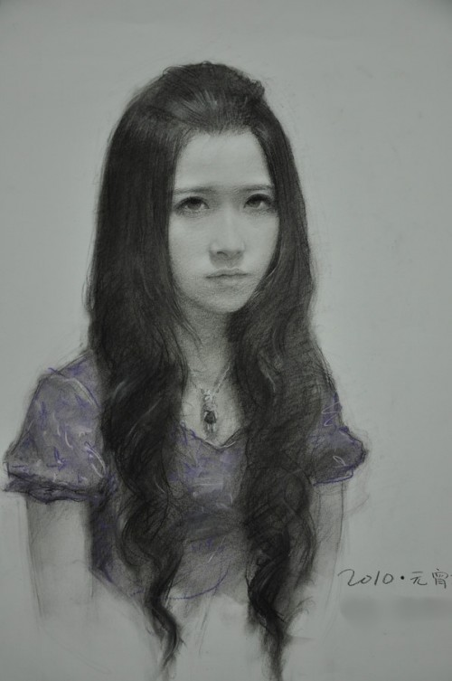 Portrait sketch by Dein