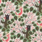 Bear and fox in the woods - pattern design