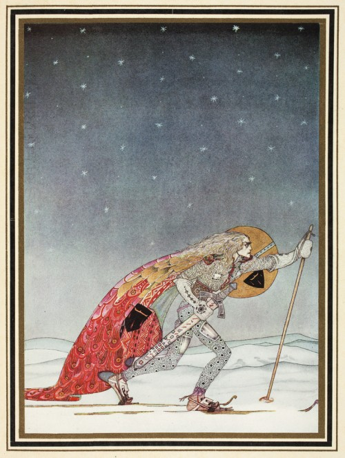 'So the man gave him a pair of snow-shoes' by Kay Nielsen