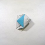 How to fold a simple origami fish in 30 seconds