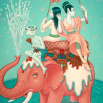 Time lapse painting of &#8216;Safety of Water&#8217; by Tara McPherson