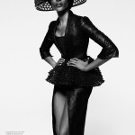 Naomi Campbell Works It for Elle US February 2013 by Thomas Whiteside