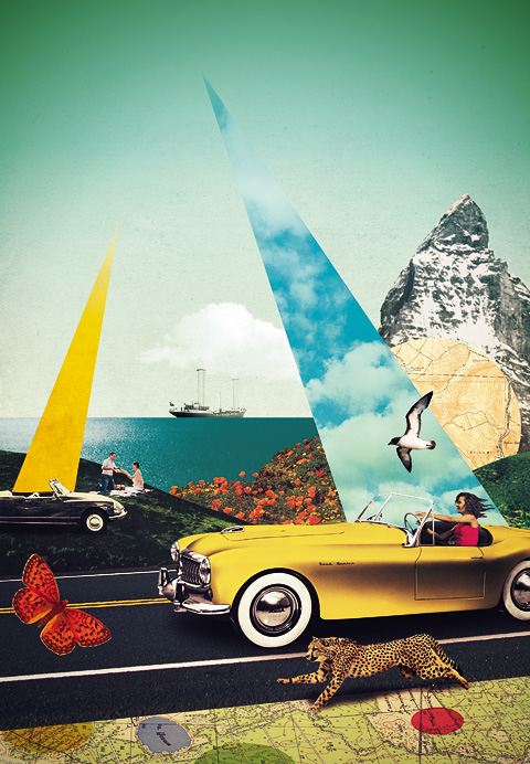 Bentley magazine - Julien Pacaud • Illustration • Perpendicular Dreams