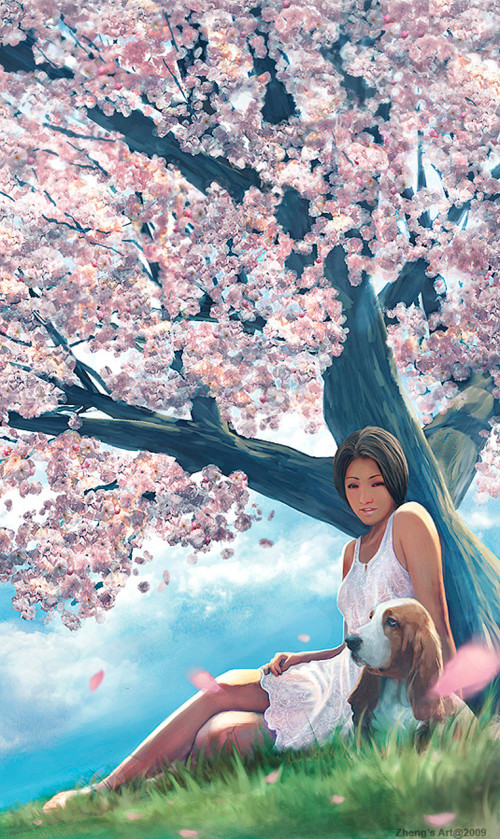 Under cherryblossom tree - Zheng Xun See