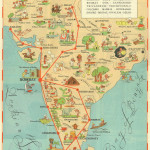 Tata Airlines - Vintage route map - circa 1938-46