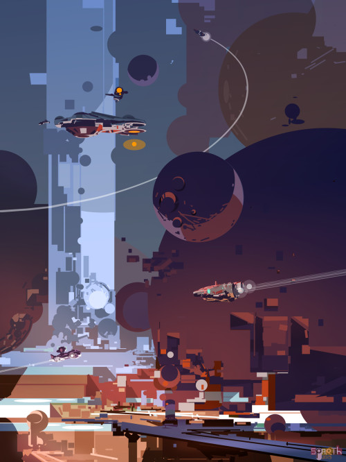 SPARTH - Sinking Spheres. 2013 personal artwork based on...