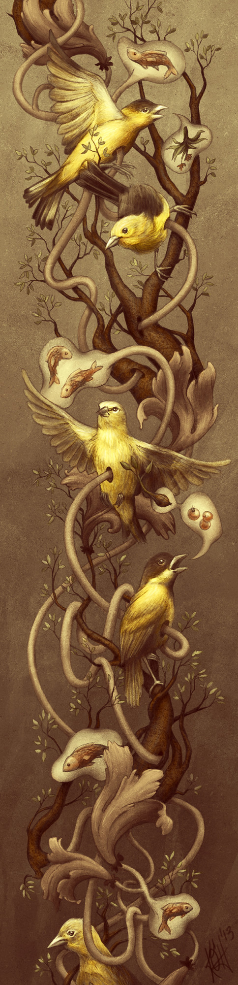 GOLDFINCH - Kate O'Hara - biological Illustration