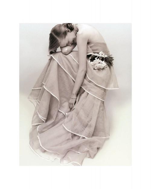 Tiered Evening Dress, March 1951, Norman Parkinson