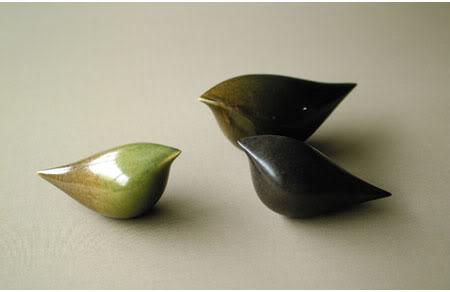 artistic ceramic sculptures of birds