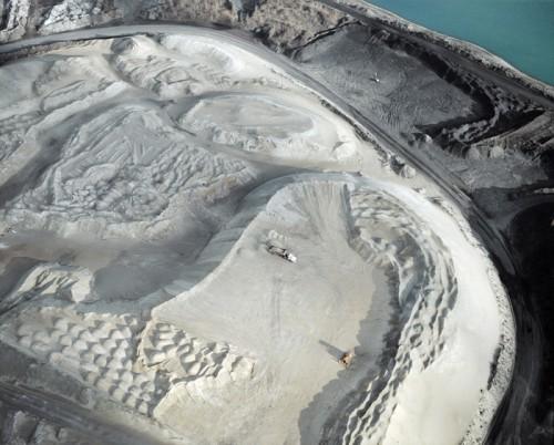 aerial photograph of a quarry