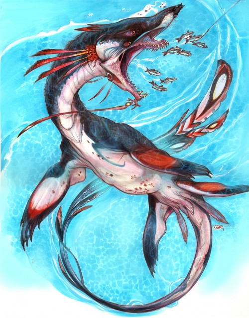 digital sketch of an aquatic monster