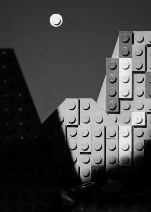 Moon and Half Dome Lego photo recreation