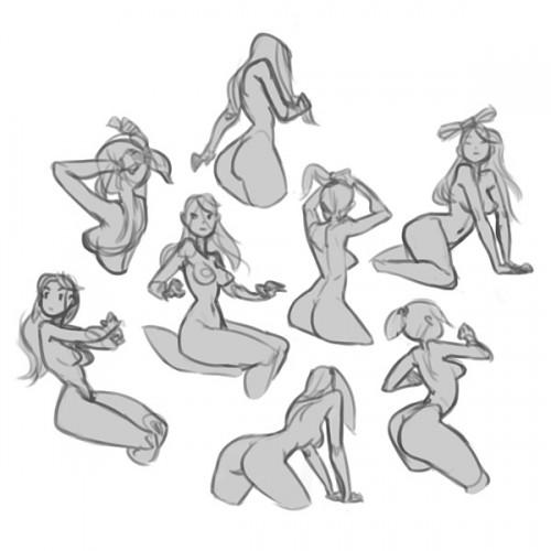 grey digital sketches of nude women3