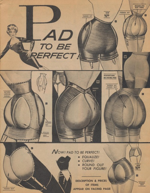 vintage ad for shorts with inflatable enhancement