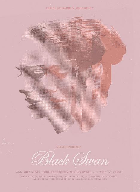 fan art poster for black swan