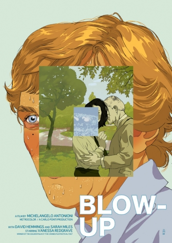 illustrated fan poster for Antonioni's Blow Up