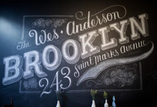 Chalk lettering on a black board