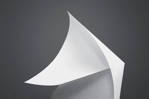 black & white picture of papercraft3