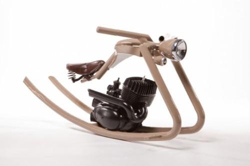 chopper motorcycle styled rocking horse
