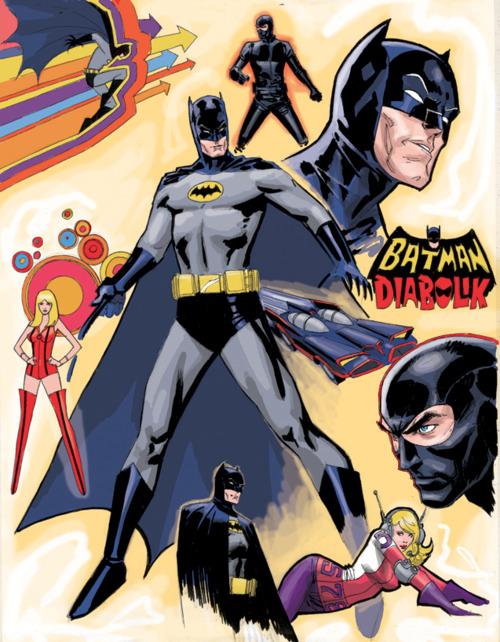 fan art of batman and diabolik