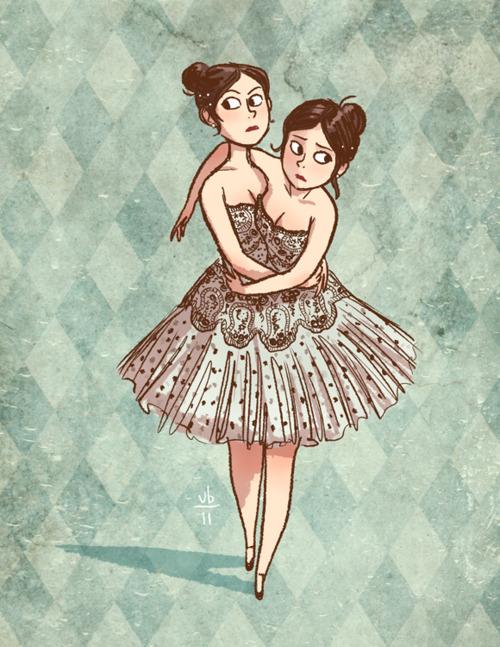 siamese twins in dress
