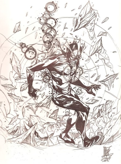 havok pencil sketch by mark robinson