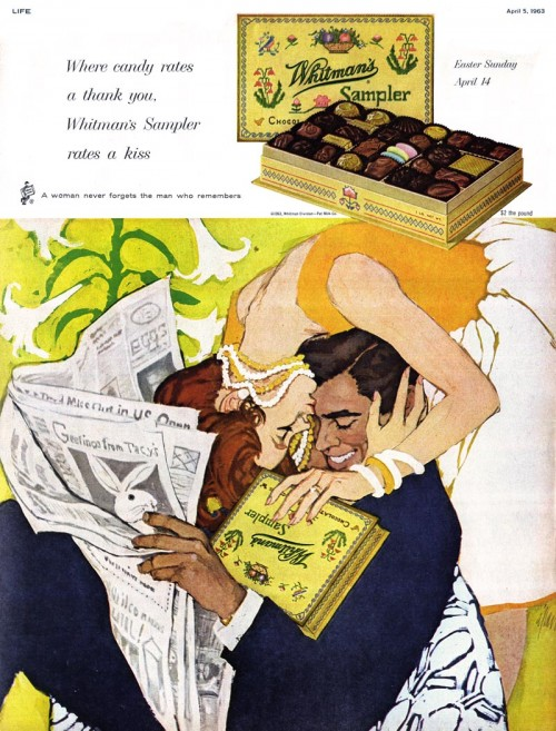 illustrated ad for chocolate by Al Parker