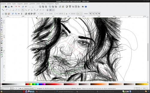 Megan Fox Inkscape wireframe by MadDrum (Luciano Lourenço)