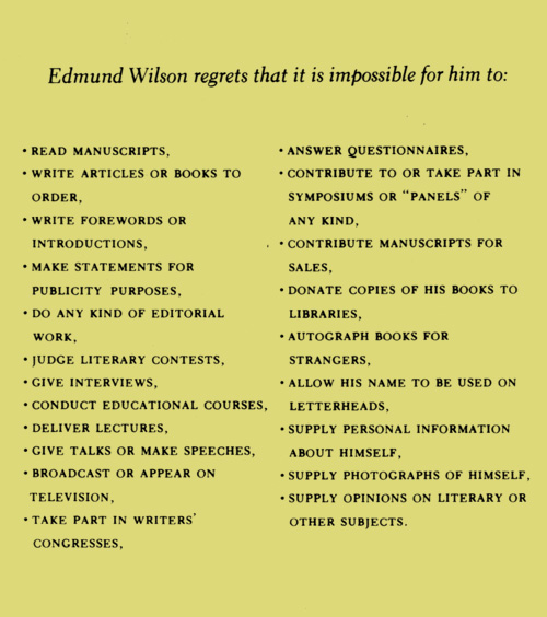 rules by edmund wilson
