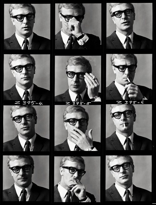 Black & white Portraits of Michael Caine
