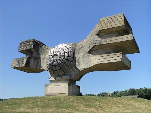 Soviet war monument (Spomenik) at Podgaric