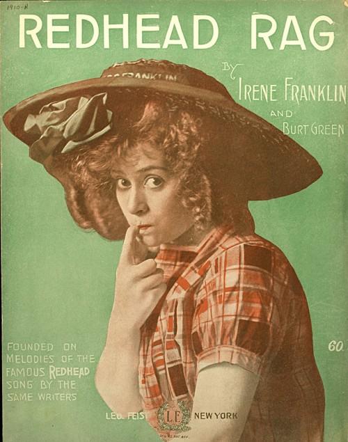 Redhead Rag - sheet music cover
